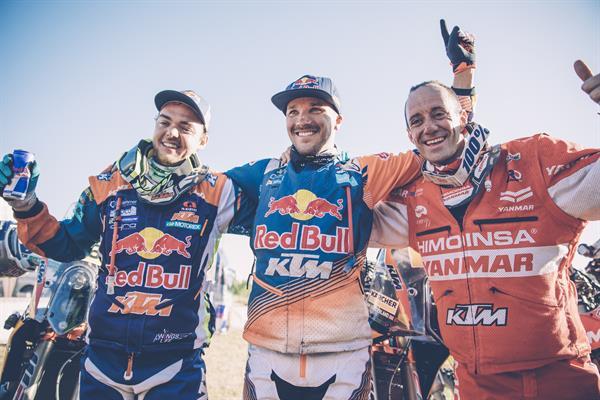 Matthias Walkner,  Sam Sunderland & Gerard Farres Guell Dakar 2017