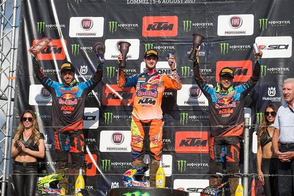 MXGP Podium at Lommel