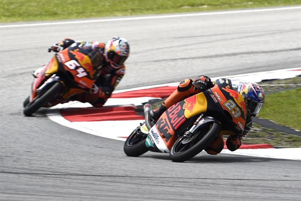 Niccolo Antonelli & Bo Bendsneyder KTM RC250 GP Sepang International Circuit 2017