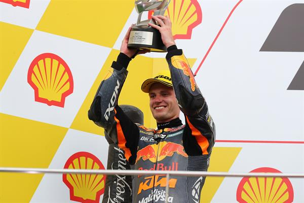 Brad Binder Podium Sepang International Circuit 2017