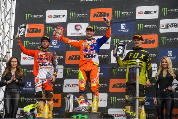 MXGP podium at Agueda 2018