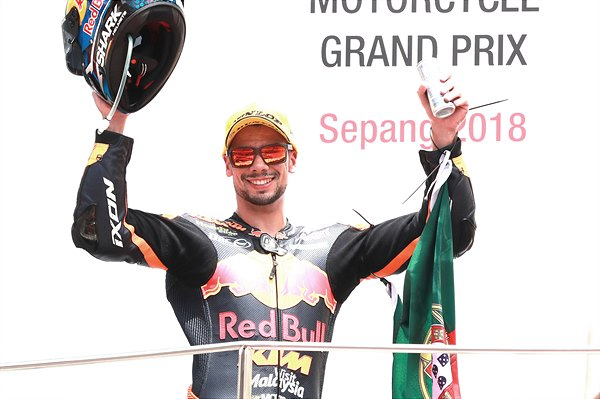 Miguel Oliveira Podium Sepang International Circuit 2018