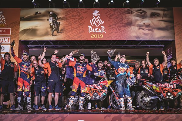 Red Bull KTM Rally Factory Racing Team podium Dakar 2019