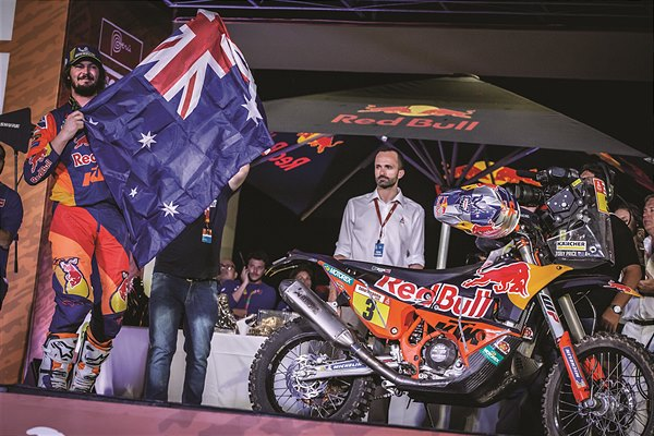 Toby Price KTM 450 RALLY podium Dakar 2019