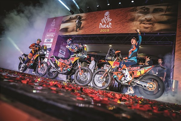 Sunderland Price Walkner KTM 450 RALLY podium Dakar 2019