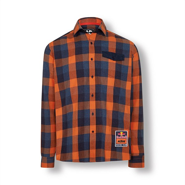3RB19000080X RB KTM RACING TEAM CHECKED SHIRT