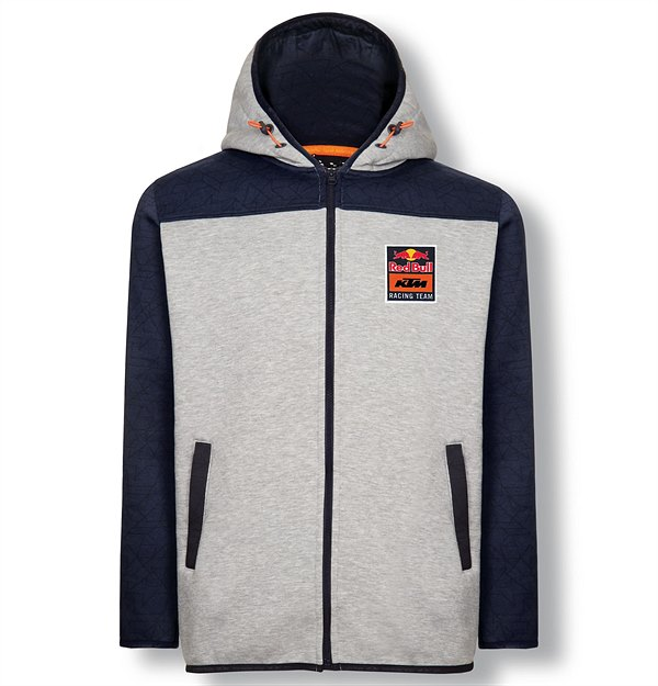 3RB19000040X RB KTM RACING TEAM ZIP HOODIE GREY