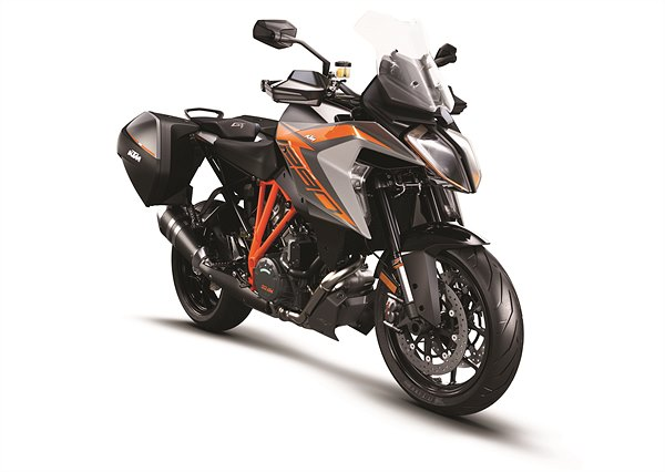 KTM 1290 Super Duke GT MY19 Black CASE Front-Right