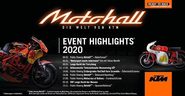 KTM Motohall Event Highlights 2020
