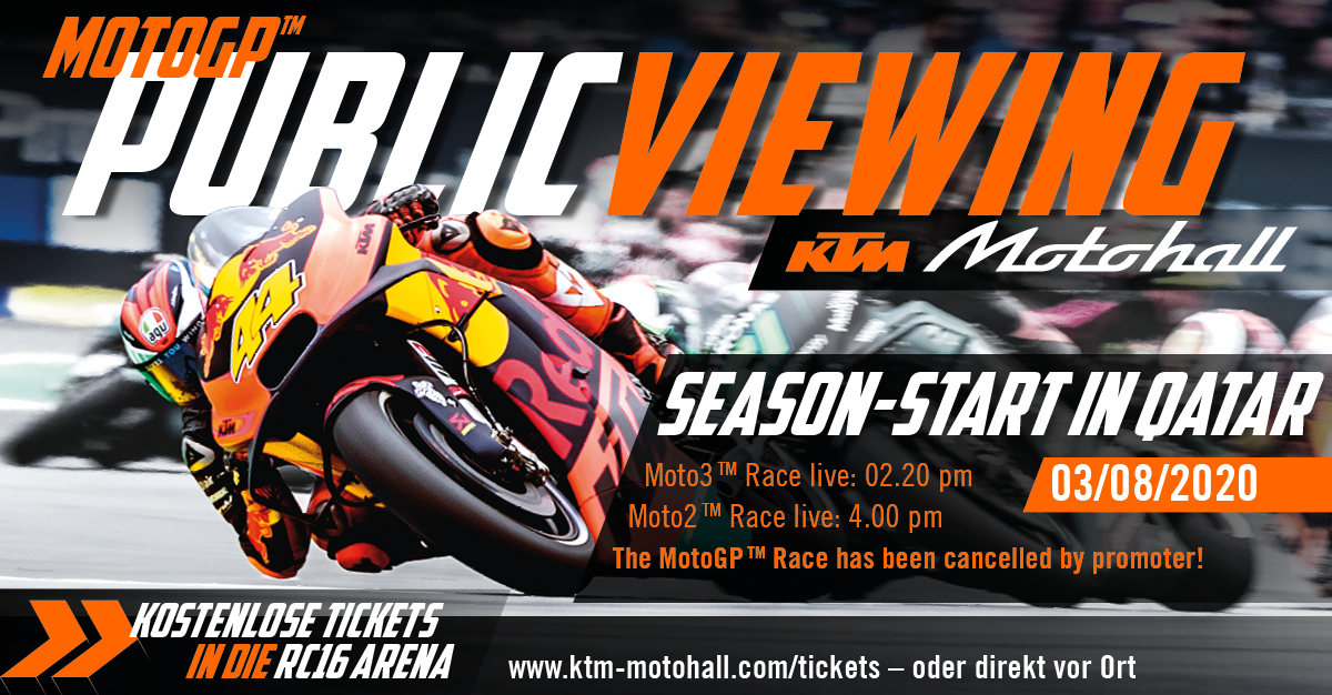 Public Viewing Moto3™Moto2™ Qatar live in the KTM Motohall!