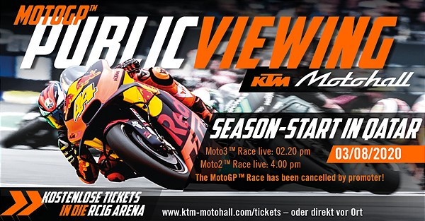 Public Viewing Moto3™/Moto2™ Qatar live in the KTM Motohall!