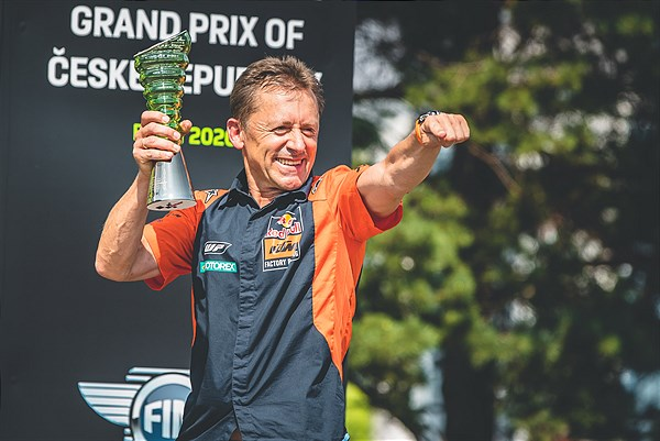 Mike Leitner - Brad Binder MotoGP 2020 Brno Celebration