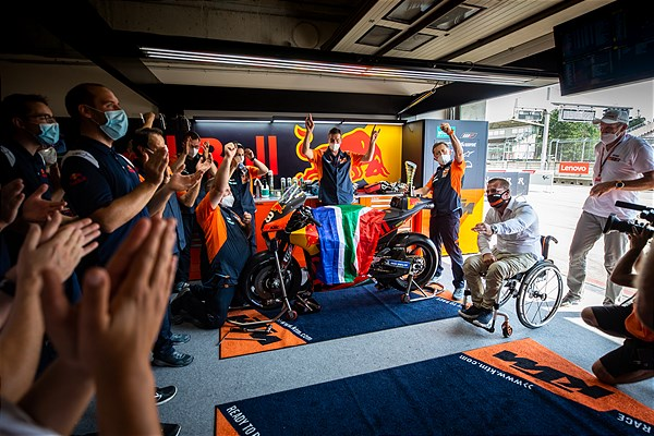 Brad Binder MotoGP 2020 Brno Celebration