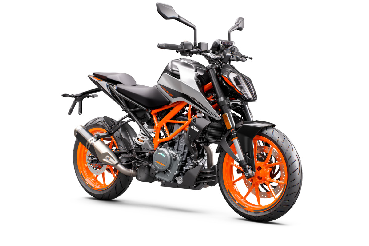 KTM 390 DUKE - front right gray