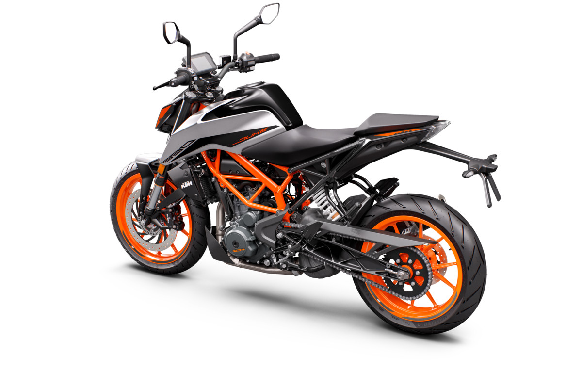 KTM 390 DUKE - rear left gray