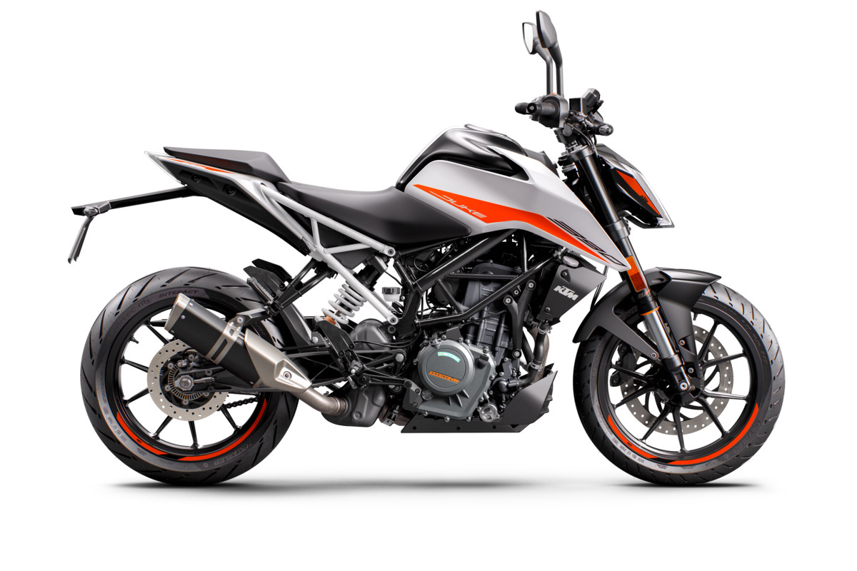 KTM 390 DUKE - right white