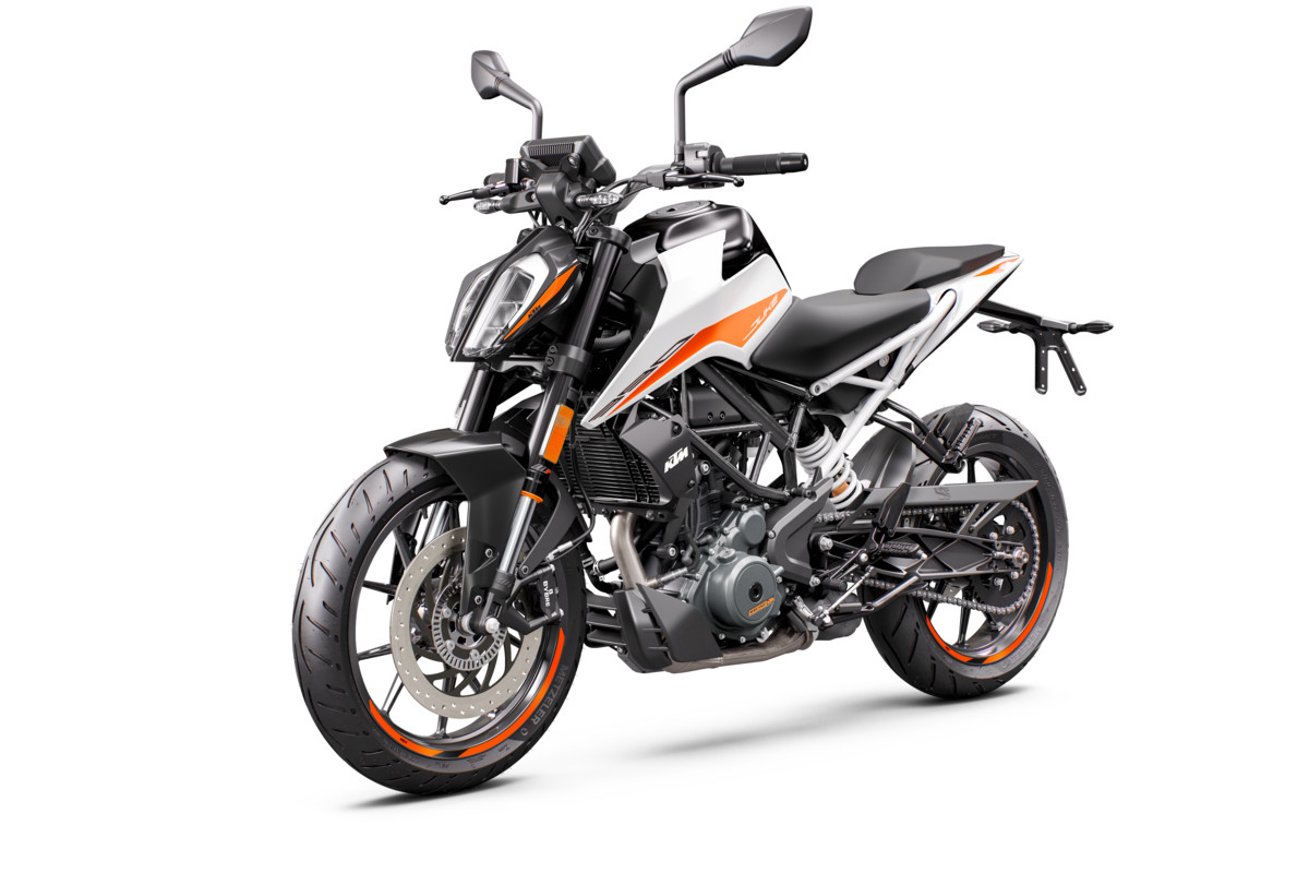 KTM 390 DUKE - front left white