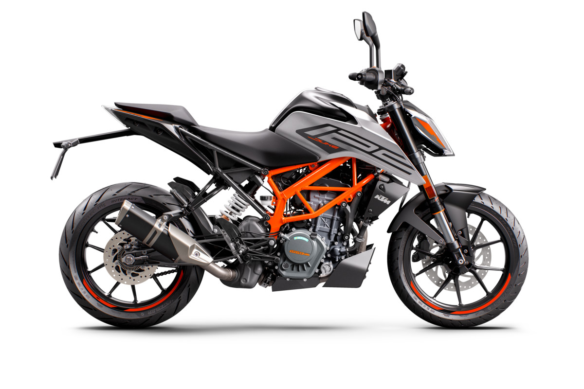 KTM 125 DUKE - right grey