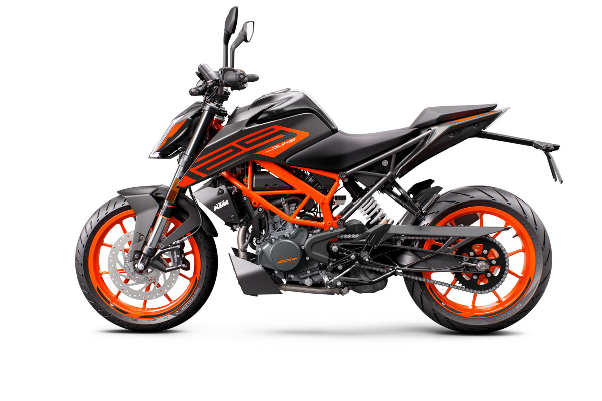 KTM 125 DUKE - left black