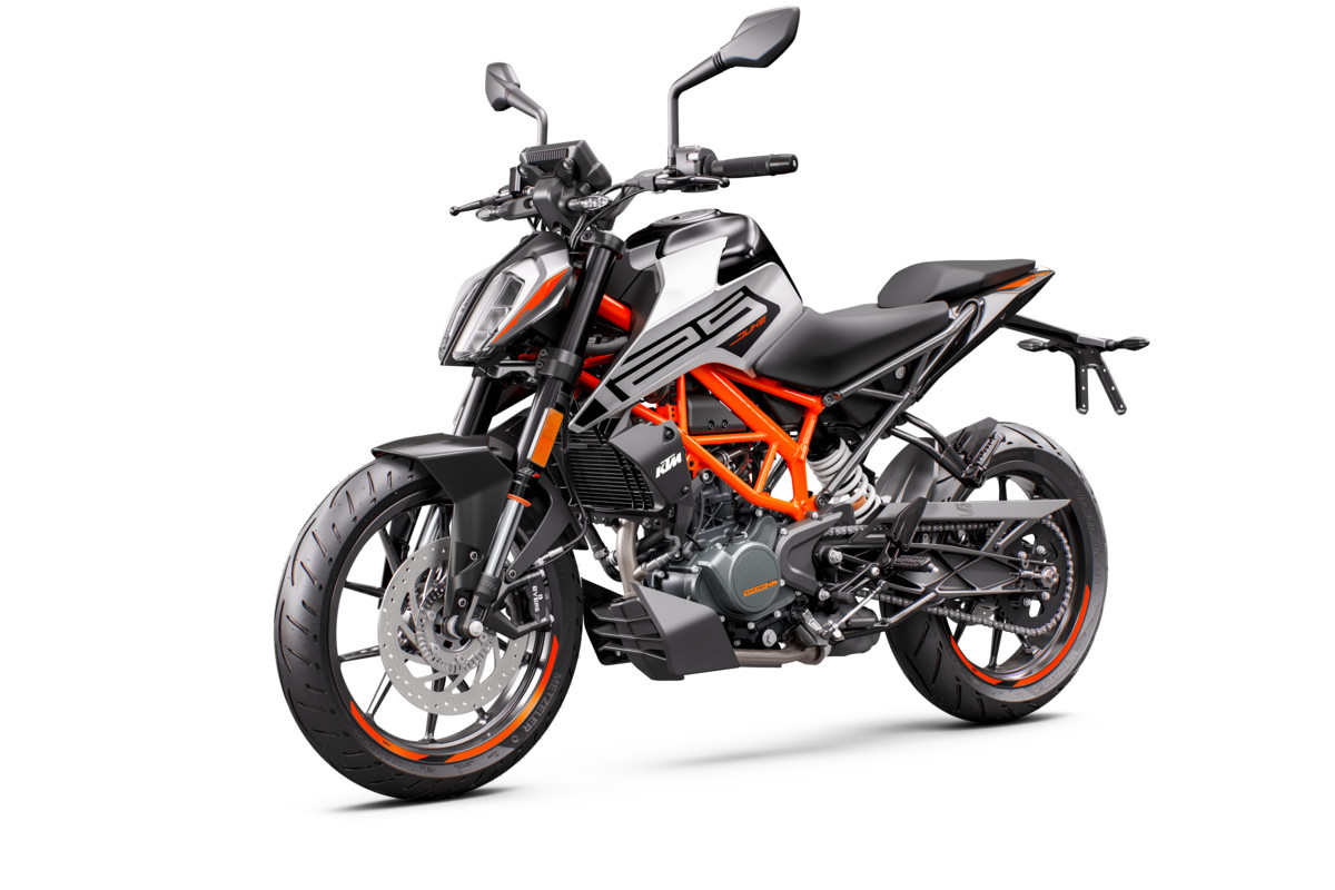 KTM 125 DUKE - front left grey