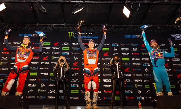 WEBB AND MUSQUIN GIVE RED BULL KTM AN IMPRESSIVE 1-2 PODIUM FINISH AT 450SX ROUND