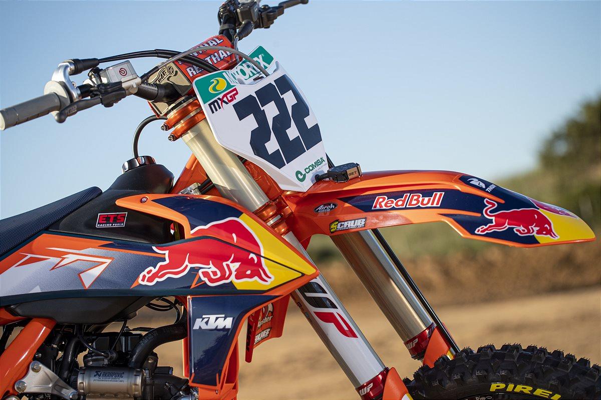 Tony Cairoli KTM 222 number retirement